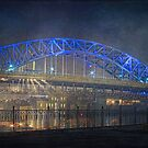 Nightlights on the Veterans memorial Bridge by MClementReilly
