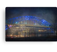 Nightlights on the Veterans memorial Bridge Canvas Print