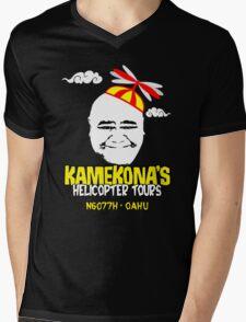 Kamekona's Helicopter Tours Mens V-Neck T-Shirt