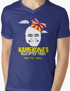 Kamekona's Helicopter Tours Mens V-Neck T-Shirt