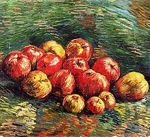 Van Gogh  - Apples, 1887 (bright version) by famousartworks