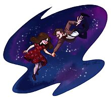 11th Doctor and Clara by Meghan Stockham