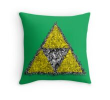 Painterly Triforce Throw Pillow