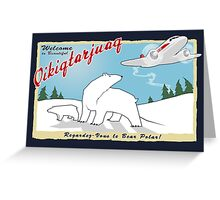 MJN Air to Qikiqtarjuaq Greeting Card