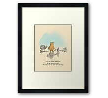 I love being with you Framed Print