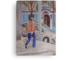 Walkin the dog in SF Canvas Print