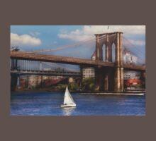 Sailing under the Brooklyn Bridge One Piece - Short Sleeve