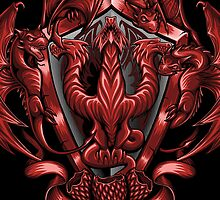 Fire and Blood - Iphone Case #2 by TrulyEpic