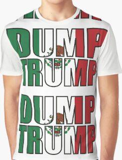 Dump Trump Mexican Flag Graphic T-Shirt