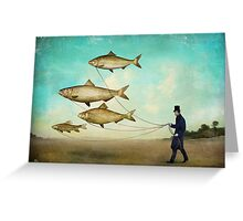 Walking the Fish Greeting Card