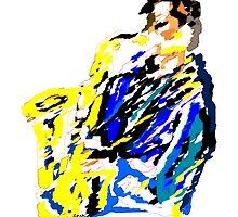 Jazz Saxophonist by Grobie