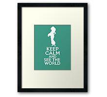 Keep Calm and See the World (Jasmine, Aladdin) Framed Print