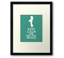 Keep Calm and See the World (Jasmine, Aladdin) Framed Print