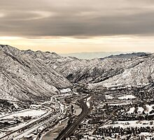 Glenwood Springs Canyon in Winter by Robert Meyers-Lussier