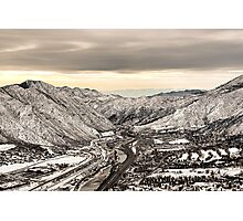 Glenwood Springs Canyon in Winter Photographic Print