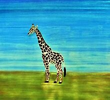 Giraffe. Perfect for the kids by janeflowersart