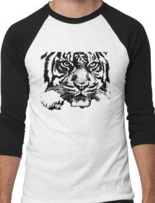 Tiger, big cat, hunter and predator Men's Baseball ¾ T-Shirt