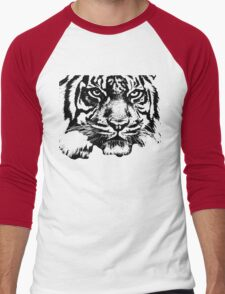 Tiger, big cat, hunter and predator Men's Baseball ¾ T-Shirt