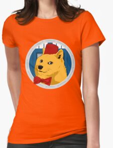 Wow Such Timelord! Womens Fitted T-Shirt