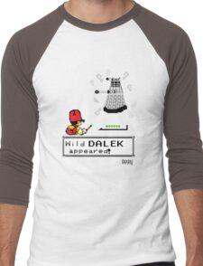 Doctormon - A wild DALEK appeared! Men's Baseball ¾ T-Shirt