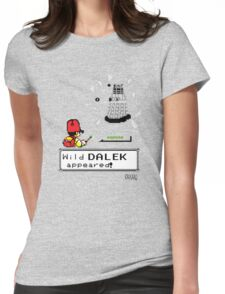 Doctormon - A wild DALEK appeared! Womens Fitted T-Shirt