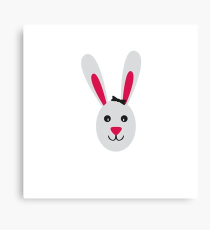 Rabbit with ribbon Canvas Print