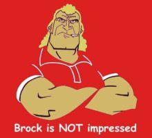 Brock is NOT impressed Kids Tee