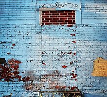 Blue Brick Wall Art by sarafureyphoto