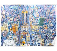 Building New York Paint Poster