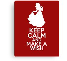 Keep Calm and Make a Wish (Snow White, Snow White and the Seven Dwarfs) Canvas Print