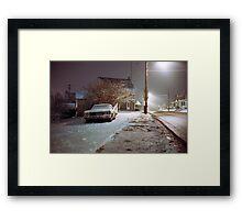 Snowy Evening Framed Print