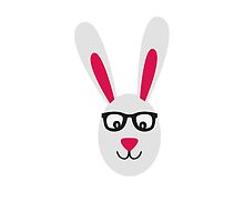 Rabbit with glasses by ilovecotton