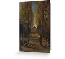 Vincent Van Gogh - Avenue of poplars in autumn, 1884 Greeting Card