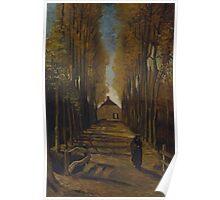 Vincent Van Gogh - Avenue of poplars in autumn, 1884 Poster