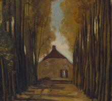 Vincent Van Gogh - Avenue of poplars in autumn, 1884 Sticker