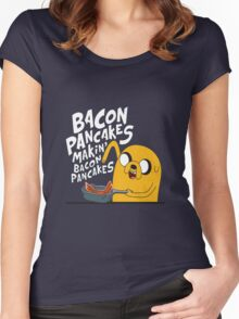 Bacon pancake Women's Fitted Scoop T-Shirt