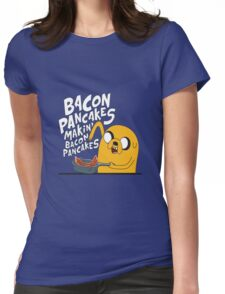 Bacon pancake Womens Fitted T-Shirt