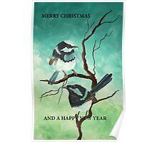 CHRISTMAS WRENS Poster