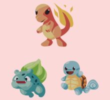 Kanto Starters - New (No Outline) Kids Clothes