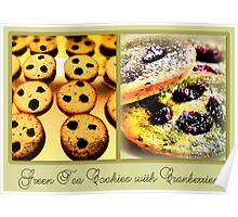 Green Tea Cookies with Cranberries Poster