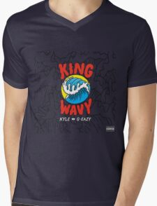 King Wavy  Mens V-Neck T-Shirt