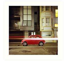 Little Red Car Art Print