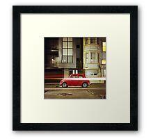 Little Red Car Framed Print