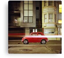 Little Red Car Canvas Print
