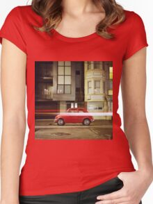 Little Red Car Women's Fitted Scoop T-Shirt