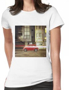 Little Red Car Womens Fitted T-Shirt