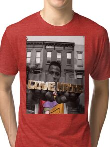 Radio Raheem - Love & Hate  Tri-blend T-Shirt