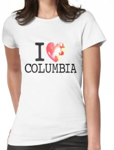 I Love Columbia Womens Fitted T-Shirt