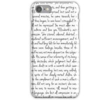 Pride and Prejudice text iPhone Case/Skin