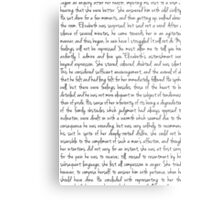 Pride and Prejudice text Metal Print